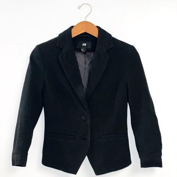 H&M Black Fitted Blazer